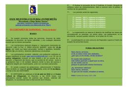 XXIX MUESTRA CULTURAL EXTREMEÑA