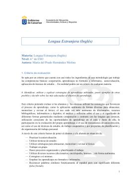 Lengua Extranjera (Inglés)