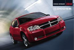 Descargue el catálogo del Dodge Avenger