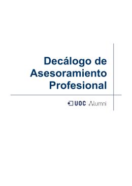 Decálogo de Asesoramiento Profesional