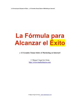 La Fórmula para Alcanzar el Éxito