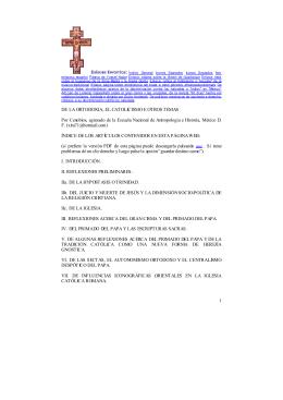 De la ortodoxia y el catolicismo, versión PDF
