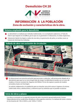 Folleto informativo DEMOLICION CH 20 Prensa