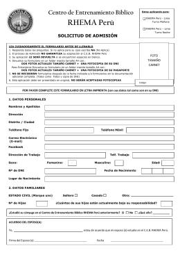 ficha de admisión