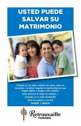 USTED PUEDE SALVAR SU MATRIMONIO