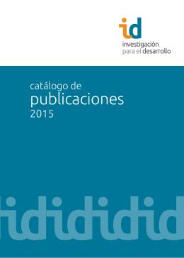 Catálogo de publicaciones ID 2015