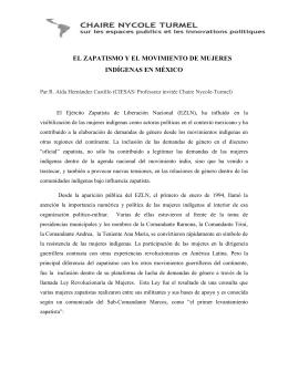el zapatismo y el movimiento de mujeres indígenas en méxico