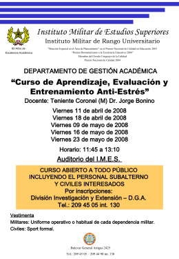 Folleto Curso Antiestres - IMES