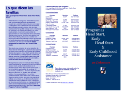 Lo que dicen las familias - Delaware Department of Education