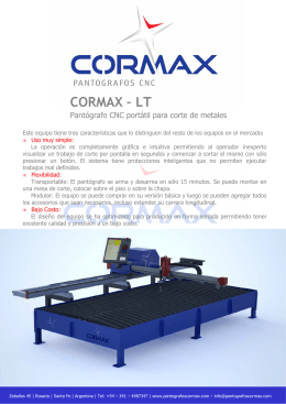 Folleto Cormax LT