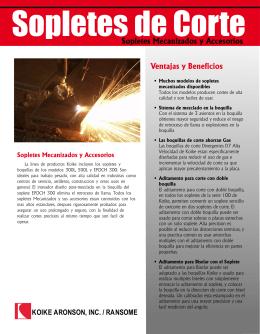 Ventajas y Beneficios Sopletes Mecanizados y Accesorios