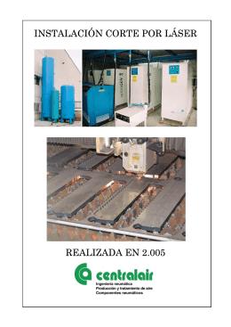 instalación corte por láser realizada en 2.005
