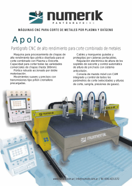 folleto Apolo.cdr - PANTOGRAFOS CNC NUMERIK