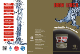 folleto Iron Wash ES