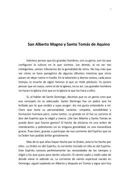 San Alberto Magno y Santo Tomás de Aquino.