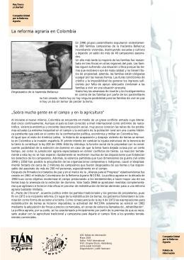 La reforma agraria en Colombia
