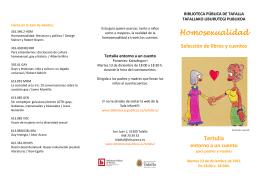 Tertulia homosexualidad folleto