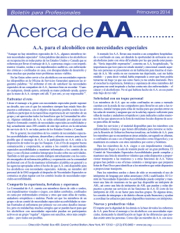 Primavera 2014 - AA para el alcohólico con necesidades especiales