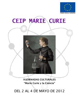FOLLETO SEMANA CULTURAL - CEIP Marie Curie Zaragoza