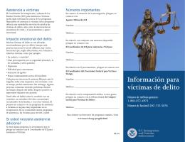Información para víctimas de delito