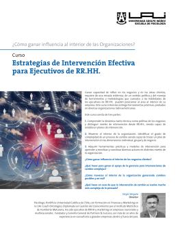 Estrategias de Intervención Efectiva para Ejecutivos de RR.HH.