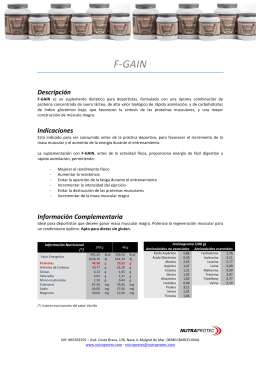 Folleto F-GAIN