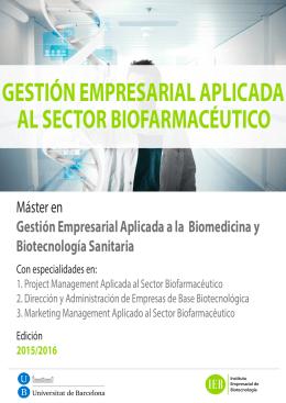 Folleto Master 2015 - Instituto Empresarial de Biotecnología