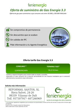 Folleto Gas Energía 3.3 hasta 30-09-15