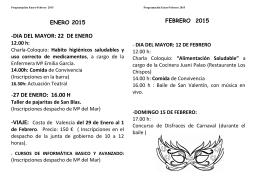 Folleto Enero-Febrero 2015