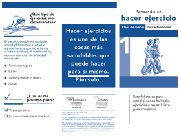 hacer ejercicio - Diabetes Initiative