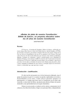 Bodas de plata de nuestra Constitución - PULSO