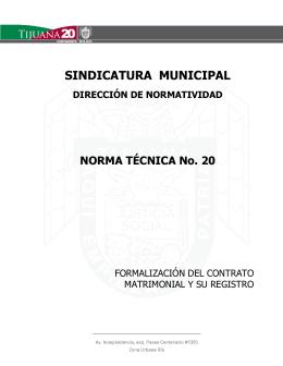 SINDICATURA MUNICIPAL DIRECCIÓN DE NORMATIVIDAD