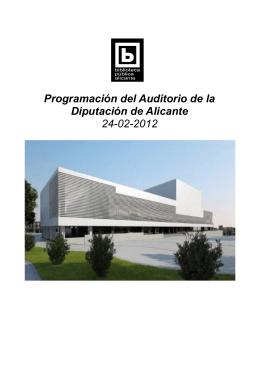 Programación del Auditorio de la Diputación de Alicante 24-02-2012