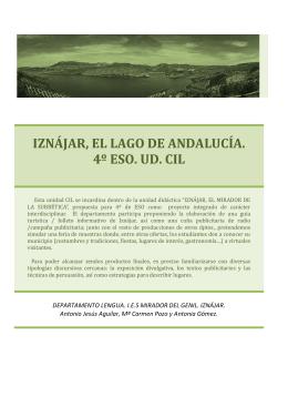 IZNÁJAR, EL LAGO DE ANDALUCÍA. 4º ESO. UD. CIL