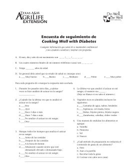 Encuesta de seguimiento de Cooking Well with Diabetes