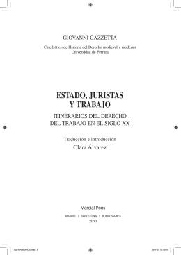 ESTADO, JURISTAS Y TRABAJO