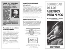 SEGURIDAD DE LOS ASIENTOS PARA NIÑOS