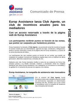 Nota de prensa Club Agentes