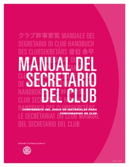 SÉ UN Secretario de club
