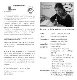 folleto 20124.pub - Fundación Mainel