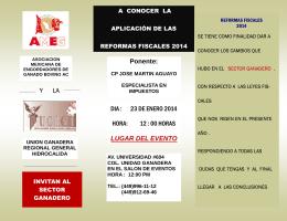 Folleto Reformas Fiscales 2014