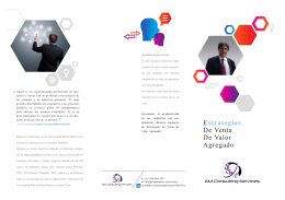 Folleto Venta de Valor Agregado - Angel Meso Consulting Services