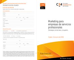 Marketing para empresas de servicios profesionales