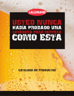 Informe de Levaduras Lallemand