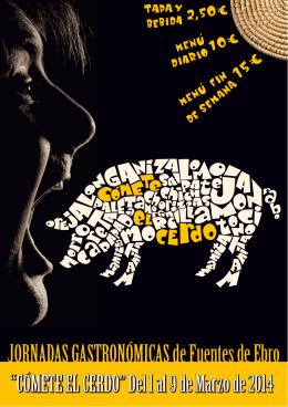 COMETE EL CERDO folleto 2014 - Ayuntamiento de Fuentes de Ebro