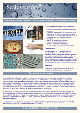 SW hospitality leaflet Spanish V4