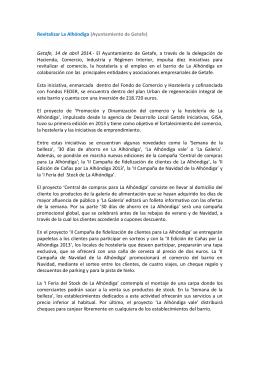 Revitalizar La Alhóndiga (Ayuntamiento de Getafe