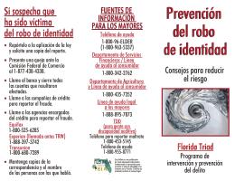 Prevención del robo de identidad Prevención del robo de identidad