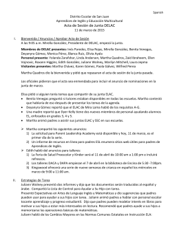 Acta de Sesión de Junta DELAC - San Juan Unified School District
