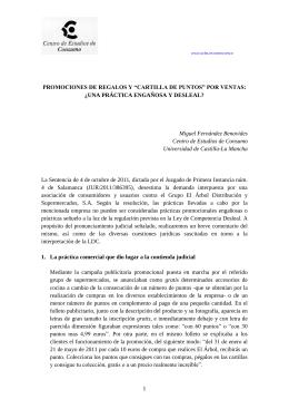 """1 PROMOCIONES DE REGALOS Y """"CARTILLA DE PUNTOS"""" POR"""